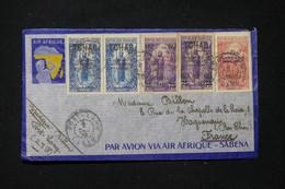 A.E.F. - Enveloppe Air Afrique De Fort Lamy Pour La France En 1935, Affranchissement Tchad / Oubangui - L 89617 - Lettres & Documents
