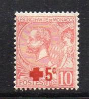 XP1659 - MONACO 1914 , 10+5 Cents N. 26 Nuovo * Linguella. Croce Rossa - Unused Stamps