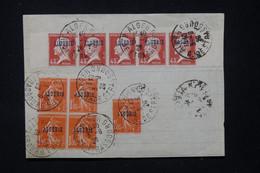 ALGÉRIE - Type Pasteur Et Semeuse Surchargés Oblitérés Sur Feuille De Papier En 1926 D'Alger  - L 89618 - Briefe U. Dokumente