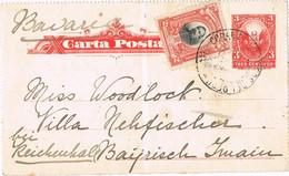 39475. Entero Postal PERU 1907 A Bayern (germany)  OJO NOTA - Perú