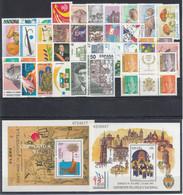 ESPAÑA 1993 Nº 3237/3276 AÑO COMPLETO NUEVO 40 SELLOS + 2 HB - Full Years