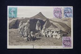 ALGÉRIE - Affranchissement Semeuse / Blancs Sur Carte Postale ( Nomades ) En 1925 Pour La France - L 89621 - Briefe U. Dokumente