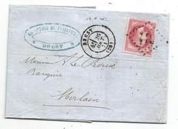 - FINISTERE - BREST - GC.611 S/N°32 - Càd TYPE 17 - 1871 - 1863-1870 Napoléon III Con Laureles