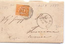 1883 Letterina  Da ALIA  Per Termini Imerese Con  20c  Umberto  I Annullo Numerale - Marcofilía