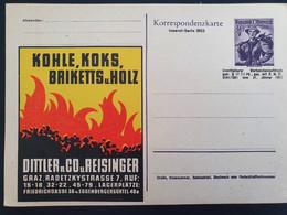Ganzsache Österreich. Mittler & Co. Kohle. Inserat Serie 001 - Interi Postali