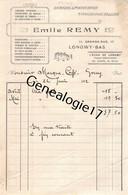 54 1023 LONGWY BAS MEURTHE MOSELLE 1912 Librairie Papeterie EMILE REMY Gravure Lithographie Grande Rue A POCHON - Imprimerie & Papeterie