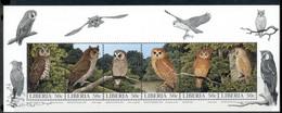Liberia 1997 Birds, Owls MS MUH - Liberia