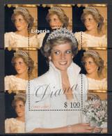Liberia 1997 Princess Diana MS MUH - Liberia
