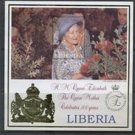 Liberia 1999 Queen Mother 100th Birthday MS1 MUH - Liberia