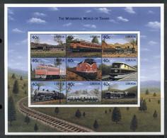 Liberia 1999 Wonderful World Of Trains MS MUH - Liberia