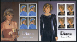 Liberia 2003 Princess Diana 2x MS MUH - Liberia