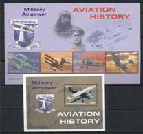 Liberia 2008 Aviation History 2xMS MUH - Liberia