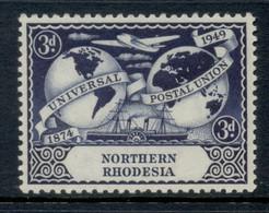 Northern Rhodesia 1949 UPU 75th Anniv. 3d MLH - Nordrhodesien (...-1963)