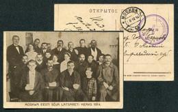 62259 WWI Russia Lazaret Of Moscow ESTONIAN Society 1914 Postcard SEAL Cancel To Pernov - Storia Postale