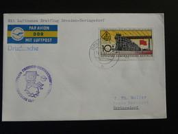 Lettre Premier Vol First Flight Cover Dresden Heringsdorf DDR 1962 Lufthansa Ref 97771 - Cartas