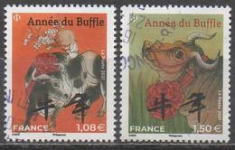 FRANCE  2021__  ANNEE DU BUFFLE  Petit Format__OBL VOIR SCAN - Gebraucht