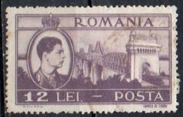 Romania, 1947 - 12l Cernavoda Bridge - Nr.672 Usato° - Gebraucht