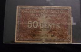 INDOCHINE 50 CENTS  1939 - Indochine