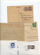8629) 10 Belege Gesamtdeutschland - Cartas