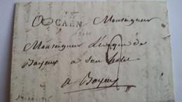 CALVADOS -  Lac Du 14/11/1815 Avec Marque De Caen Pour L'Evèque De Bayeux - TM 2 - 1801-1848: Voorlopers XIX