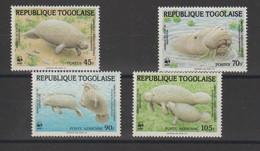 Togo 1984 Lamantin 1151-1152 Et PA 515-516 4 Val ** MNH - Togo (1960-...)