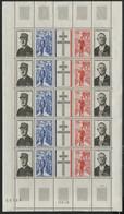 REUNION N° 403A (x5) COTE 55 €. Feuille Entière Neuve * (MH). Voir Description - Unused Stamps