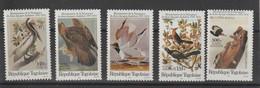 Togo 1985 Oiseaux Audubon 1182-1183 Et PA 558-560 5 Val ** MNH - Togo (1960-...)
