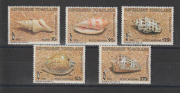 Togo 1985 Coquillages 1184 Et PA 564-567 5 Val ** MNH - Togo (1960-...)