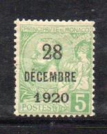 XP2248 - MONACO 1921 , Unificato N. 48 Nuovo ***  MNH. Battesimo - Unused Stamps