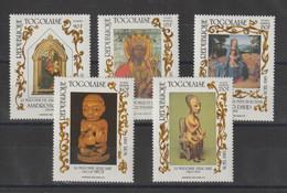 Togo 1985 Noel Botticelli 1187 Et PA 575-578 5 Val ** MNH - Togo (1960-...)
