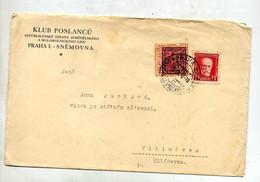 Lettre Cachet Prague Sur Celebrite Amoirie Entete Klub Poslancu - Briefe U. Dokumente
