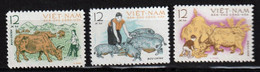 VIETNAM - Faune, Buffles - Mi 300-302 - Vietnam