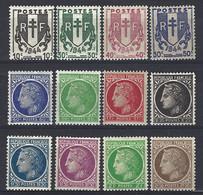 Yv 670/81  IVe République- Cérès De Mazelin ** - 1945-47 Cérès De Mazelin