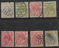 1872-98 Holanda 8v. - Used Stamps