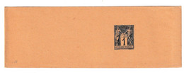France 1c Postal Stationery Newspaper Wraper Not Posted B210301 - Journaux