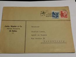 Enveloppe, Jacky Maeder & CO, Oblitéré St. Gallen Envoyé Au Luxembourg - Brieven En Documenten