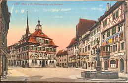 STEIN AM RHEIN -  RATHAUSPLATZ UND RATHAUS - 1927 - SH Schaffhouse