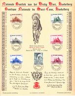 B01-356 Feuillet Souvenir 471 472 473 474 475 476 477 Basilique Nationale Sacré Coeur Koekelberg 13-08-1938 1 Oostende 1 - Cartas Commemorativas