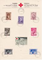 B01-356 Feuillet Souvenir FDC 496 497 498 499 500 501 502 503 Croix Rouge 01-04-1939 Bruxelles 1 Brussel - Cartas Commemorativas