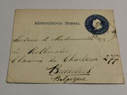 Mémorandum Postal, 15 Centavos Oblitéré Buenos Aires 1901 Envoyé à Bruxelles. Rio Iguazu - Cartas