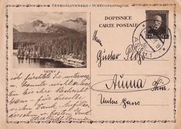 TCHECOSLOVAQUIE 1931   ENTIER POSTAL/GANZSACHE/POSTAL STATIONARY CARTE ILLUSTREE DE ASCH - Postales