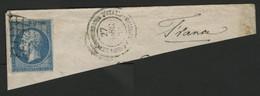 N° 14B Obl. Grille + C. à D. Du Corps Expéditionnaire D'Italie. Sur Fragment - 1849-1876: Période Classique