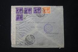 EGYPTE - Enveloppe Commerciale De Alexandrie Pour Paris En 1945 Avec Contrôle Postal - L 89673 - Cartas