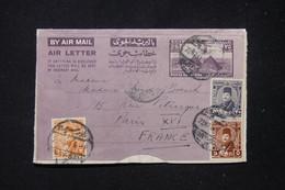EGYPTE - Aérogramme De Port Saïd Pour Paris En 1948 - L 89676 - Cartas