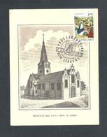 LEBBEKE - MIRAKULEUSE KERK VAN O.L.VROUW - POSTZEGELKRING - 7 - 5 - 1972 - FOTOKAART  (14.621) - Cartas Commemorativas
