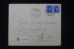 EGYPTE - Enveloppe De Salah El Din En Recommandé Pour Paris En 1937 - L 89677 - Briefe U. Dokumente