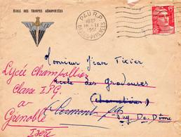 """L- """" Ecole Des Troupes Aéroportées """" PAU- - Sellos Militares Desde 1900 (fuera De La Guerra)"""
