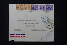 EGYPTE - Enveloppe De Port Saïd Pour La Suisse En 1948 - L 89679 - Cartas
