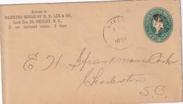 USA 1894 ENTIER POSTAL/GANZSACHE/POSTAL STATIONARY  LETTRE DE SHELBY - ...-1900