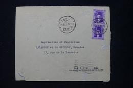 EGYPTE - Enveloppe Du Consulat De France à Suez Pour Paris En 1938  - L 89682 - Briefe U. Dokumente